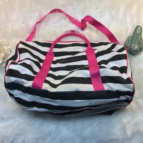 Victoria Secret Pink Black   White Striped Gym Bag.  M 5a92f75250687c13dde7c7ad. Other Bags you may like. Duffel bag 45120ac7e2632